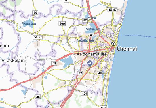Mapas-Planos Poonamallee