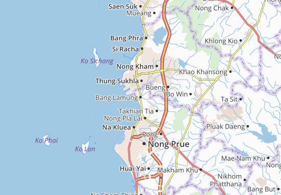 Bang Lamung Map