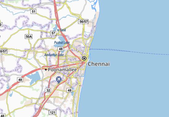 Carte-Plan Chennai