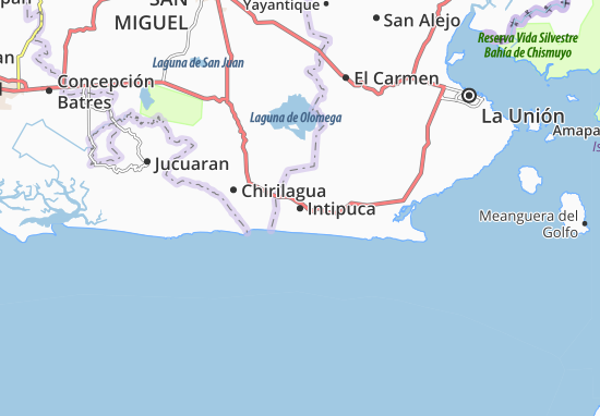 Intipuca Map