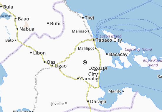 Map Of Legazpi City Michelin Legazpi City Map ViaMichelin - Legazpi city map