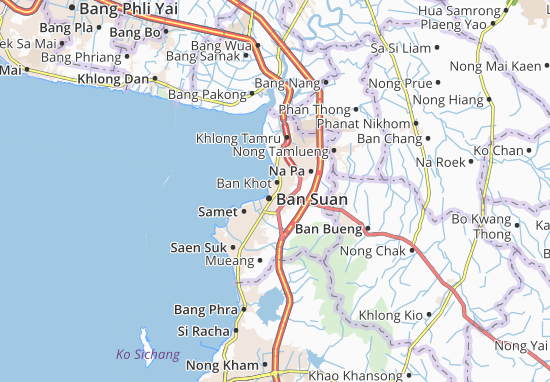 Chonburi Map