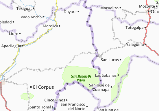 Kaart Plattegrond San Marcos de Colon