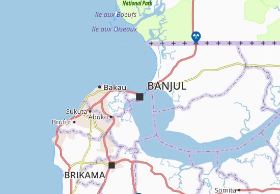 Mapa Plano Banjul