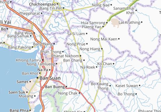 Carte-Plan Phanat Nikhom