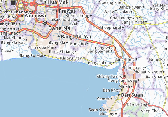 Kaart Plattegrond Khlong Dan