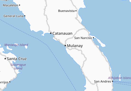 Mulanay Map