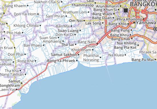 Carte-Plan Samut Sakhon