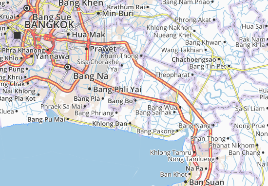 Carte-Plan Bang Sao Thong