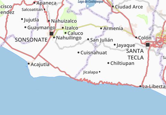 Santa Isabel Ishuatan Map