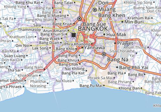 Kaart Plattegrond Phra Pradaeng
