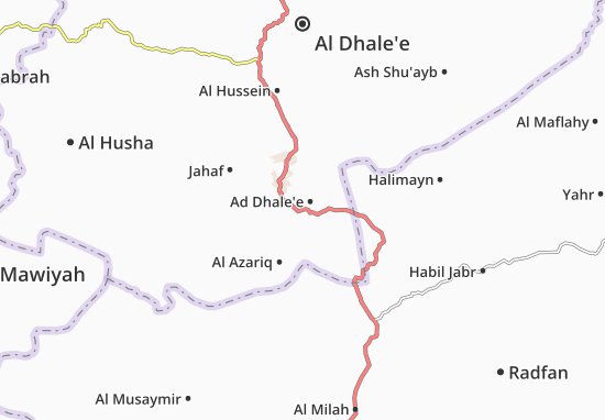 Ad Dhale'e Map