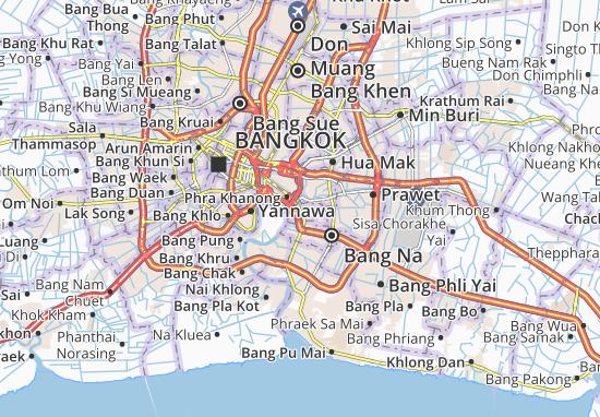 Carte-Plan Phra Khanong