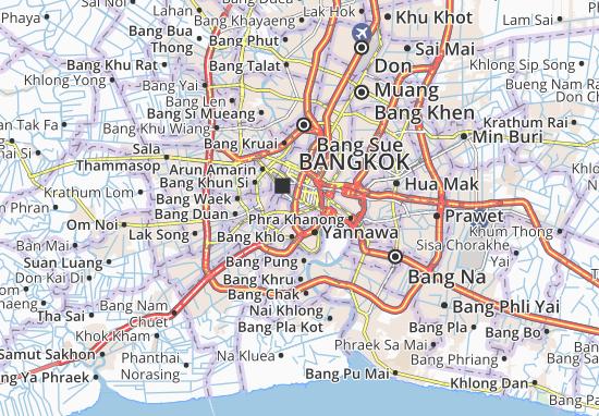 Bangkok Karte.Karte Stadtplan Suriya Wong Viamichelin