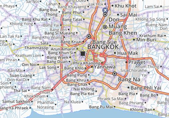 Kaart Plattegrond Khlong San