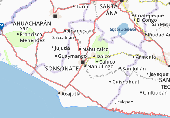 Sonzacate Map