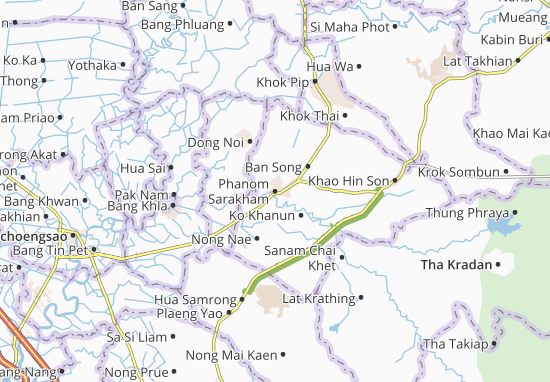 Phanom Sarakham Map