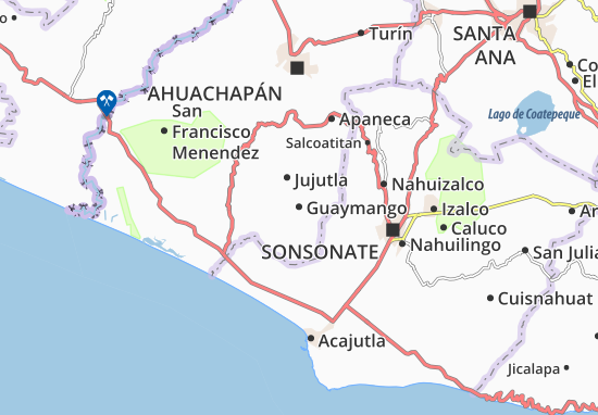 Carte-Plan Guaymango