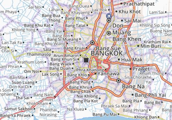 Carte Routiere Thailande A Imprimer.Carte Detaillee Bangkok Plan Bangkok Viamichelin