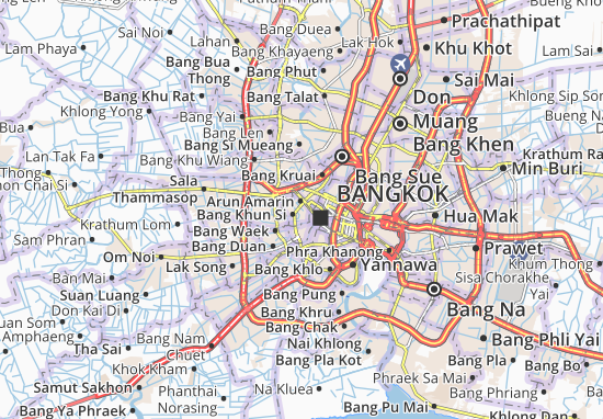 Map of Bangkok Noi Michelin Bangkok Noi map ViaMichelin – Bangkok Tourist Attractions Map
