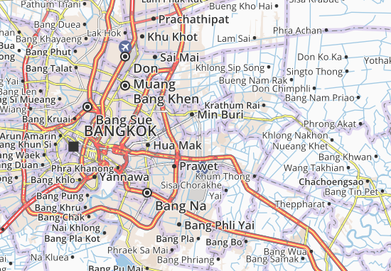 Mappe-Piantine Khlong Song Ton Nun