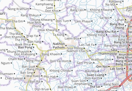 Kaart Plattegrond Nakhon Pathom