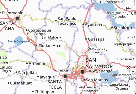 Quezaltepeque Map