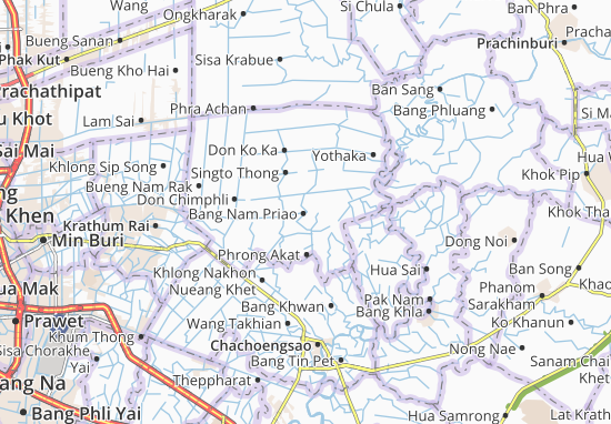 Bang Nam Priao Map