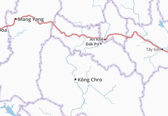 Carte-Plan Kông Yang