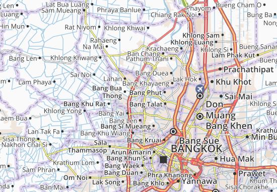 Bang Bua Thong Map