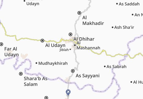 Kaart Plattegrond Jiblah