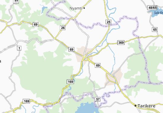 Mapa Plano Shimoga