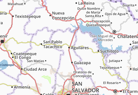 Aguilares Map