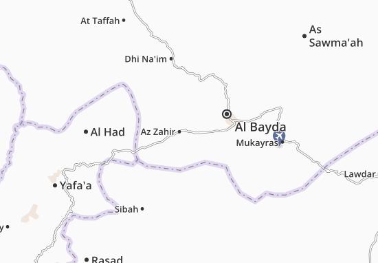 Map Of Az Zahir Michelin Az Zahir Map ViaMichelin - Map of az