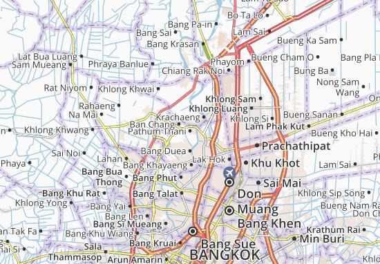 Kaart Plattegrond Pathum Thani