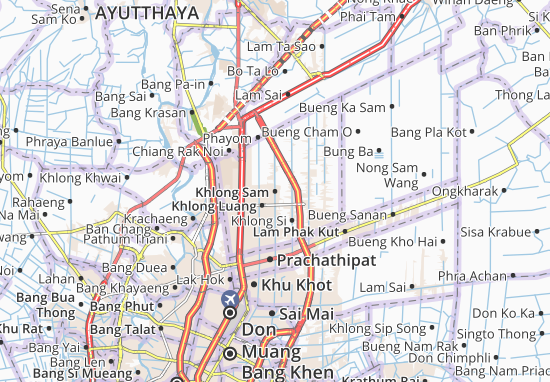 Khlong Sam Map