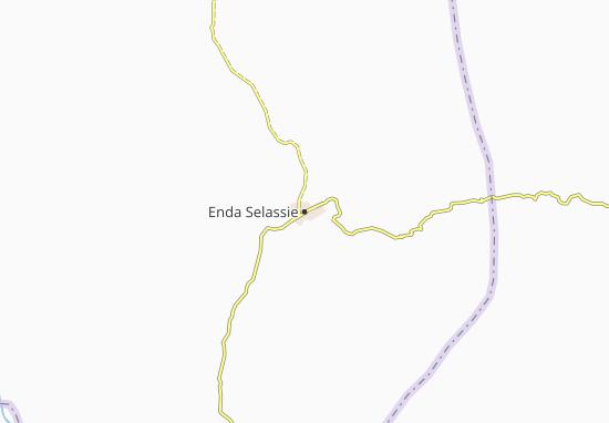 Carte-Plan Enda Selassie