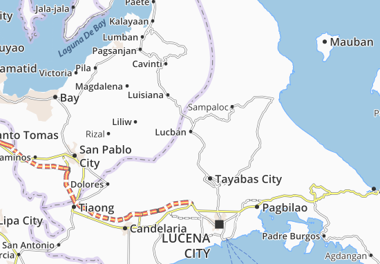 Lucban Map
