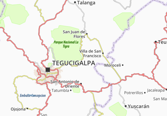 Valle de Angeles Map