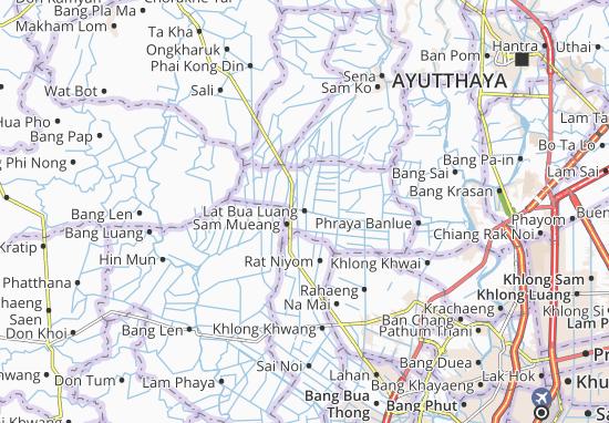 Lat Bua Luang Map