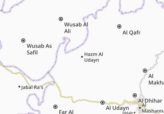 Hazm Al Udayn Map