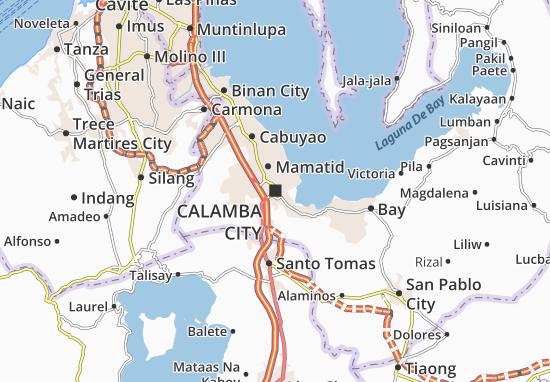 Kaart Plattegrond Calamba City