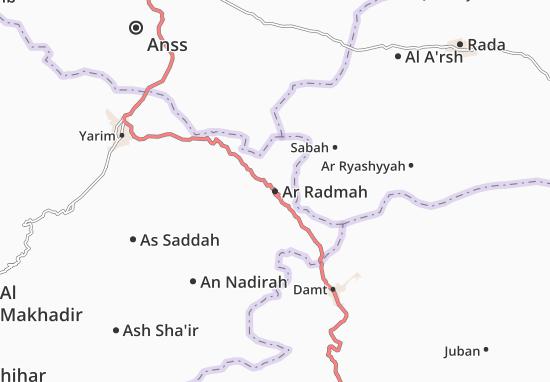 Carte-Plan Ar Radmah