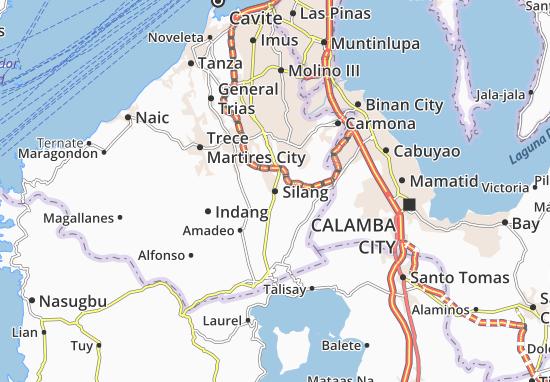 Kaart Plattegrond Silang