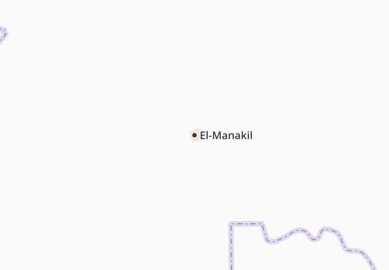 Carte-Plan El-Manakil