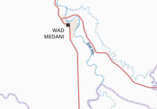 WadEnNur Map Detailed Maps For The City Of WadEnNur ViaMichelin - Wad madani map