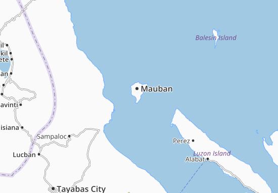 Mauban Map