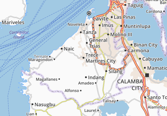 Map Of Trece Martires City Michelin Trece Martires City Map