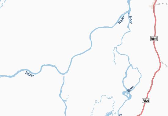 Map of Sare Dina - Michelin Sare Dina map - ViaMichelin Dina Map on