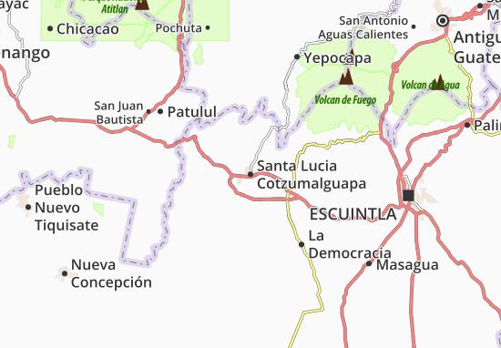 Santa Lucia Cotzumalguapa Map